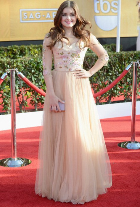 LOS ANGELES, CA - JANUARY 27:  Actress Ariel Winter arrives at the 19th Annual Screen Actors Guild Awards held at The Shrine Auditorium on January 27, 2013 in Los Angeles, California.  (Photo by Jeff Kravitz/FilmMagic)