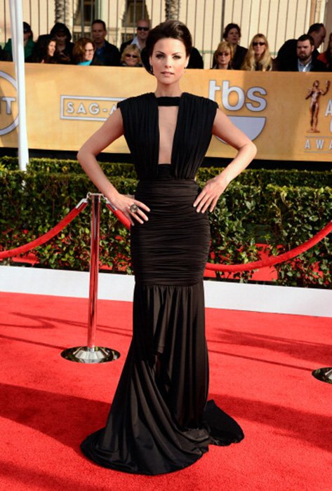 LOS ANGELES, CA - JANUARY 27:  Actress Jaimie Alexander arrives at the 19th Annual Screen Actors Guild Awards held at The Shrine Auditorium on January 27, 2013 in Los Angeles, California.  (Photo by Frazer Harrison/Getty Images)