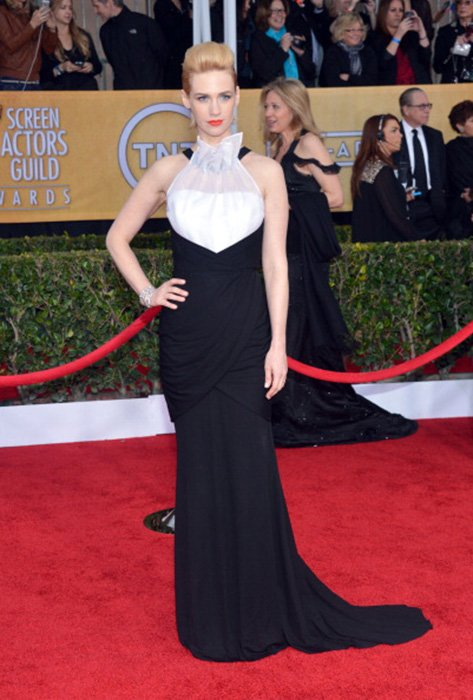 LOS ANGELES, CA - JANUARY 27:  Actress January Jones  attends the 19th Annual Screen Actors Guild Awards at The Shrine Auditorium on January 27, 2013 in Los Angeles, California. (Photo by Larry Busacca/WireImage) 23116_018_1486.JPG