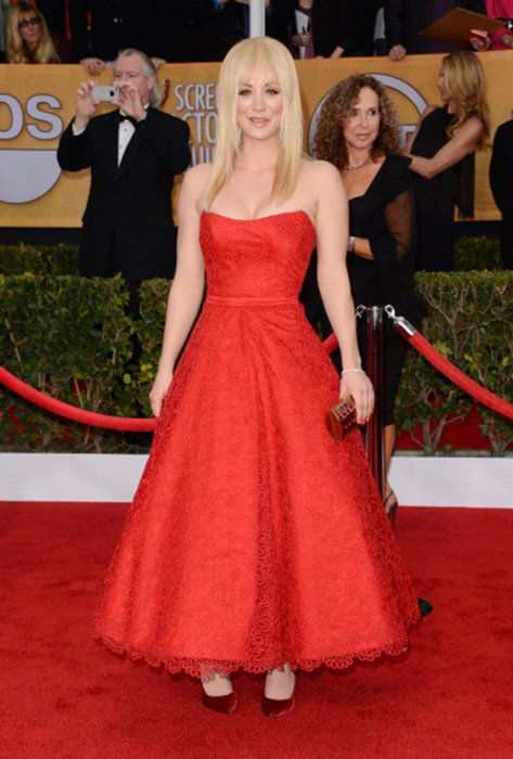 LOS ANGELES, CA - JANUARY 27:  Actress Kaley Cuoco attends the 19th Annual Screen Actors Guild Awards at The Shrine Auditorium on January 27, 2013 in Los Angeles, California. (Photo by Jason Merritt/WireImage) 23116_014_1553.jpg