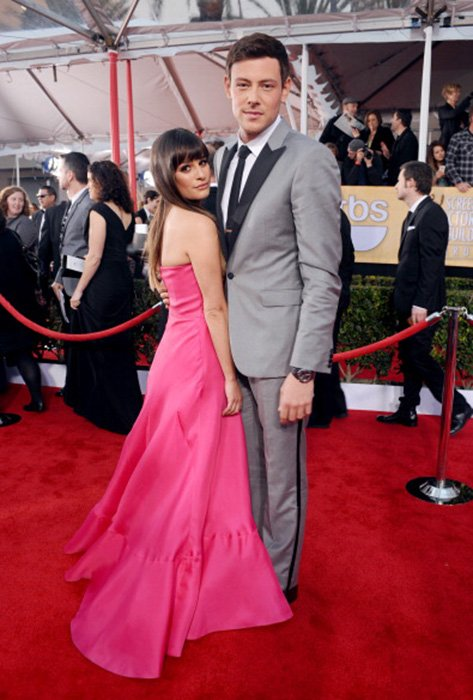LOS ANGELES, CA - JANUARY 27: Actor Lea Michele (L) and Cory Monteith attend the 19th Annual Screen Actors Guild Awards at The Shrine Auditorium on January 27, 2013 in Los Angeles, California. (Photo by Stefanie Keenan/WireImage) 23116_025_1640.jpg