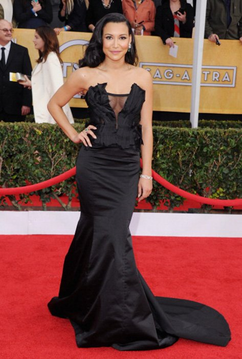 LOS ANGELES, CA - JANUARY 27:  Actress Naya Rivera arrives at the 19th Annual Screen Actors Guild Awards at The Shrine Auditorium on January 27, 2013 in Los Angeles, California.  (Photo by Jon Kopaloff/FilmMagic)