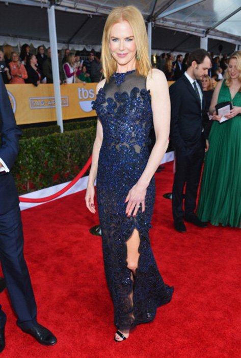 LOS ANGELES, CA - JANUARY 27:  Actress Nicole Kidman arrives at the 19th Annual Screen Actors Guild Awards held at The Shrine Auditorium on January 27, 2013 in Los Angeles, California.  (Photo by Alberto E. Rodriguez/Getty Images)