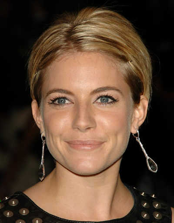 sienna miller short hair 2014