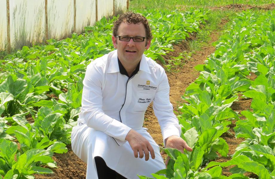 Olivier Pistre at organic farm