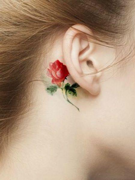 kulak arkasına yapılabilecek dövme modelleri