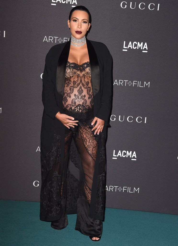 Kim-Kardashian-Wearing-Lace-Jumpsuit