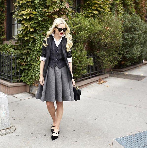 Pinstripe-Vest-Blazer-Schoolgirl-Style-Skirt