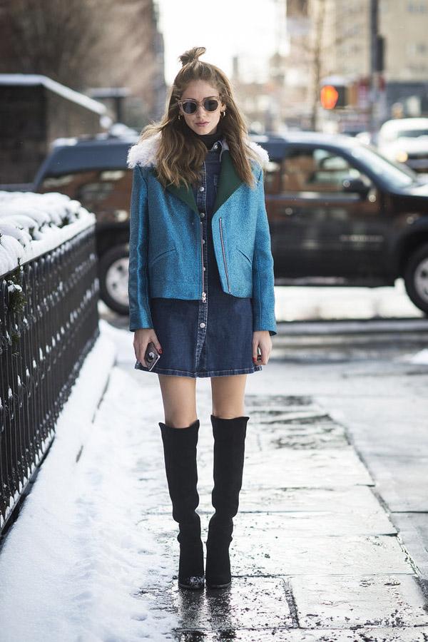 Chiara-Ferragni-wearing-Rodarte-jacket-Céline-sunglasses