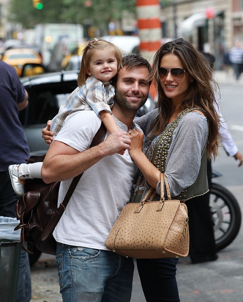 Supermodel Alesandra Ambrosio, daughter Anja and husband Jamie lunched at Nello's on Madison with her sister Aline. They also shopped at Hermes and strolled to Central Park. Photos by Lawrence Schwartzwald