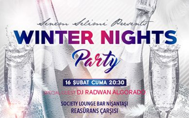 "SOCIETY LOUNGE BAR MİSAFİRLERİNİ ""WINTER NIGHTS PARTY"" İLE AĞIRLIYOR"